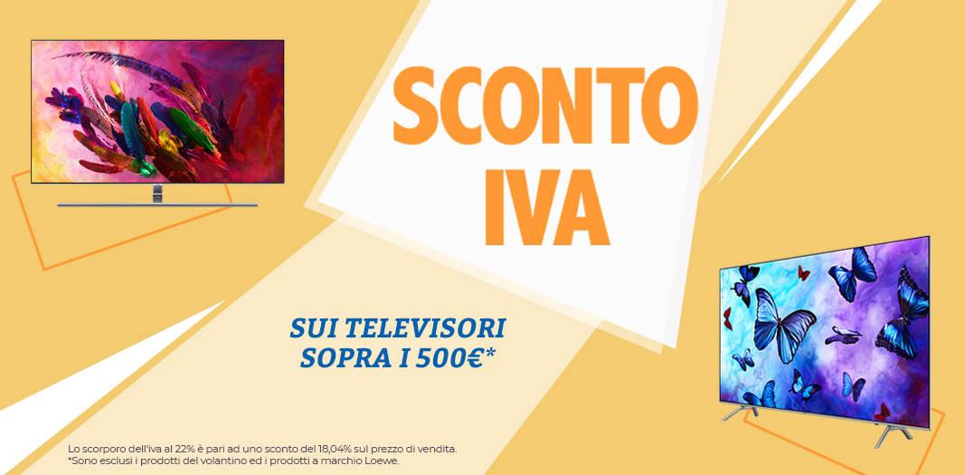 Unieuro sconto iva TV 500
