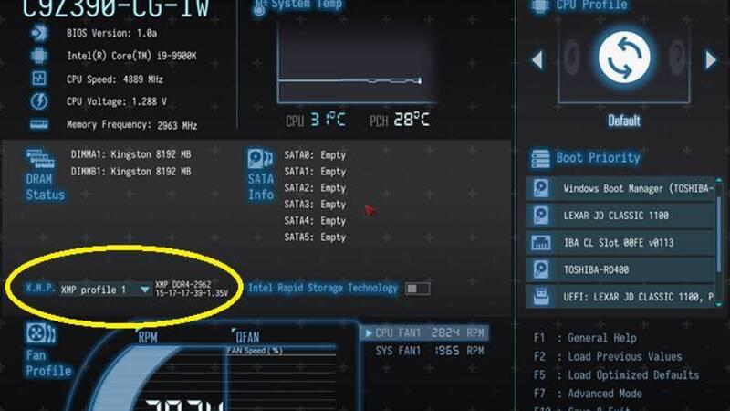 Overclock RAM con XMP: come abilitare gli Extreme Memory Profile