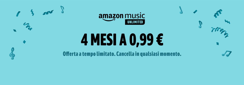 Amazon Music Unlimited Gratis 4 mesi