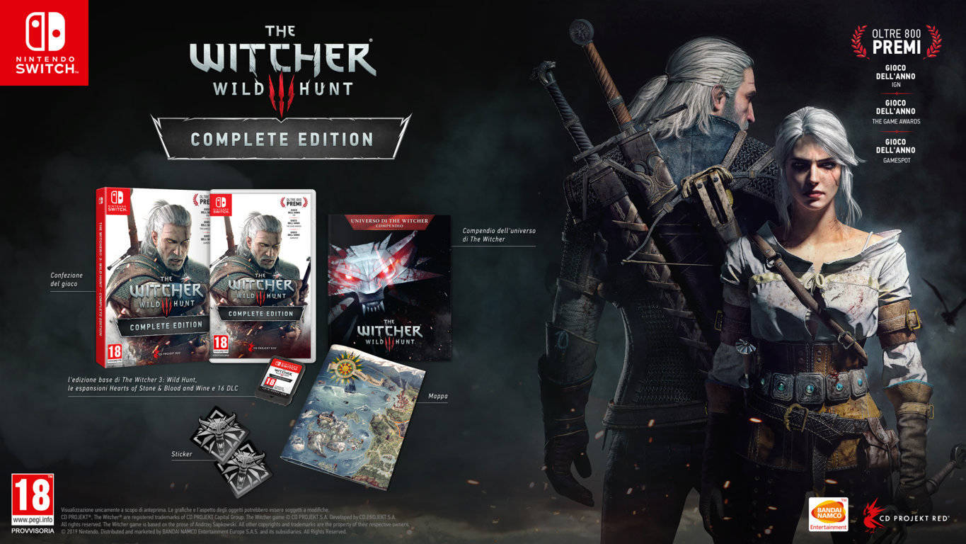 The Witcher 3 Switch edizione fisica