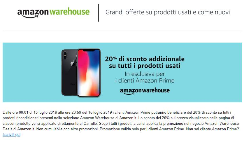 c407b8e542839c Amazon Prime Day 2019 | 20% di sconto su Warehouse Deals - Tom's ...