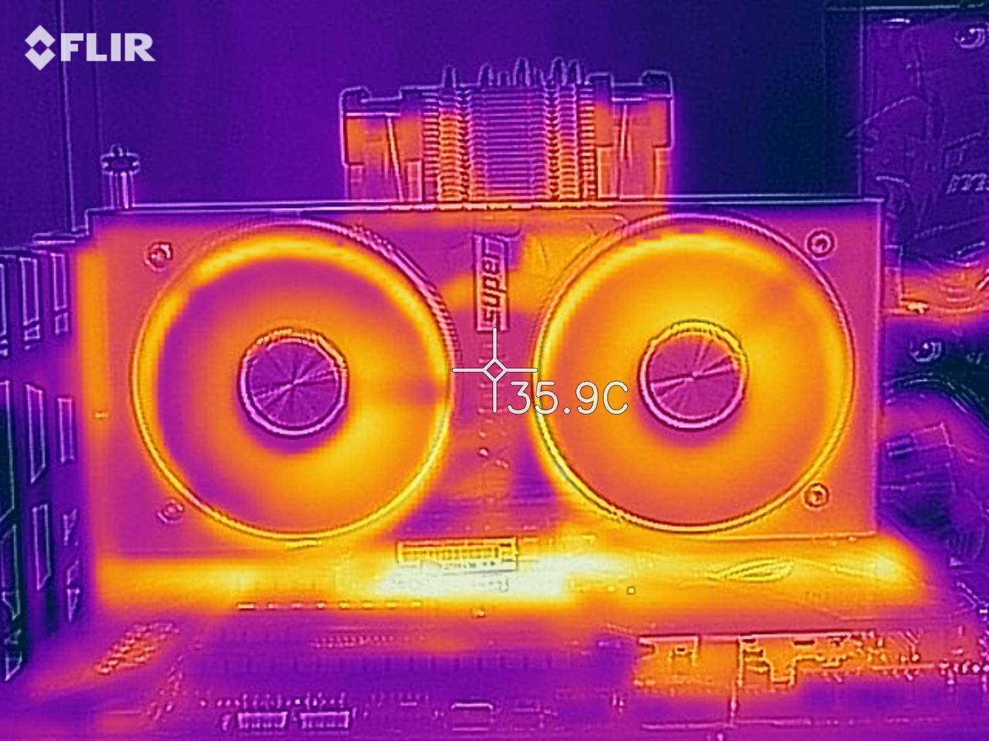Nvidia GeForce RTX 2060 Super termocamera