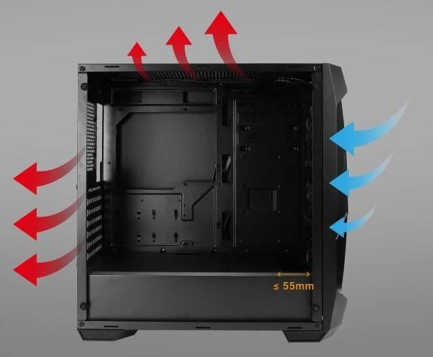 Airflow Interno Case Computer