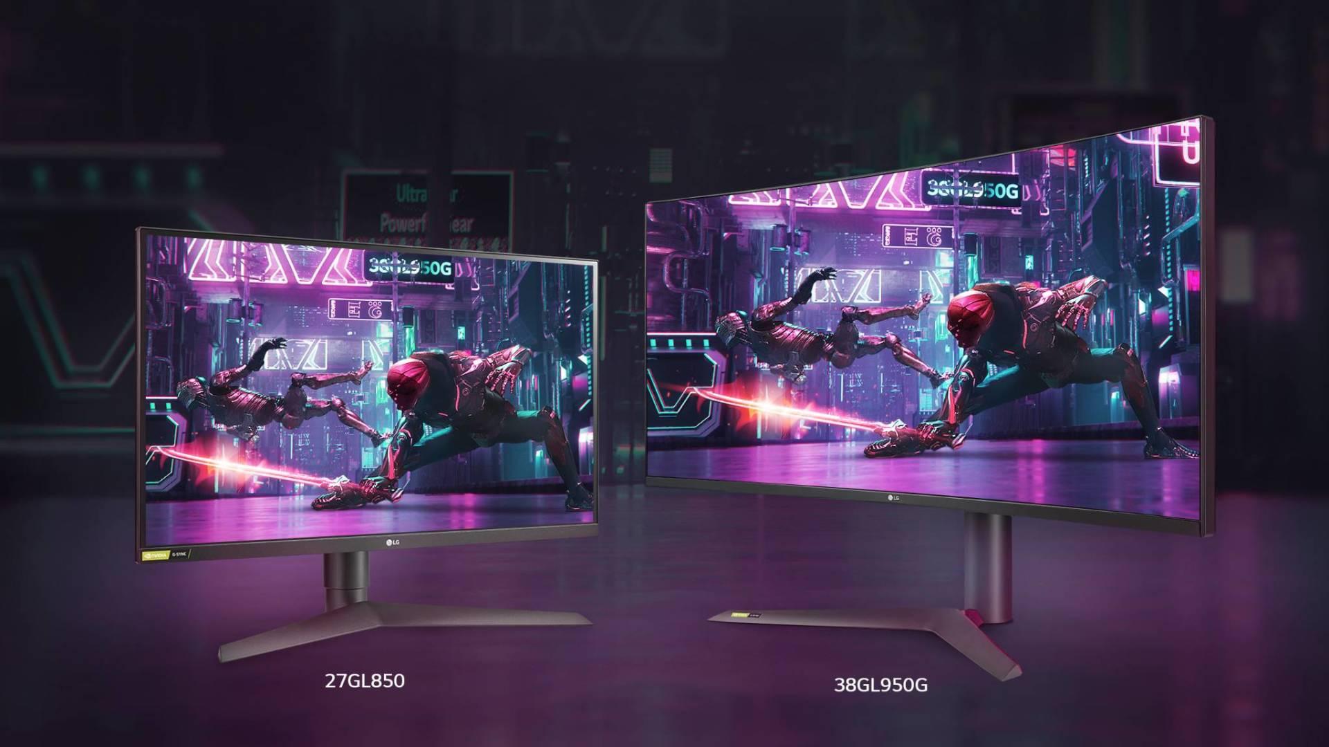 LG UltraGear Monitor 27GL850 + 38GL950G