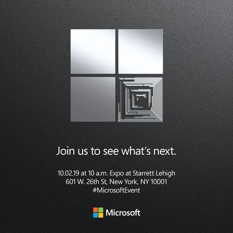 Microsoft Surface Event 2 ottobre