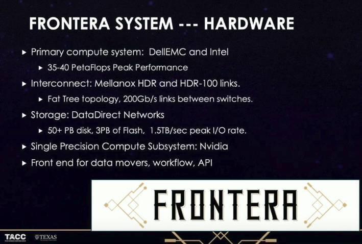 Supercomputer Frontera