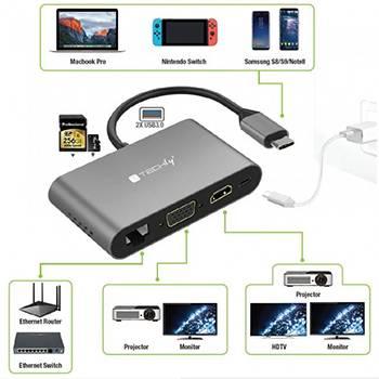 Techly adattatori USB-C
