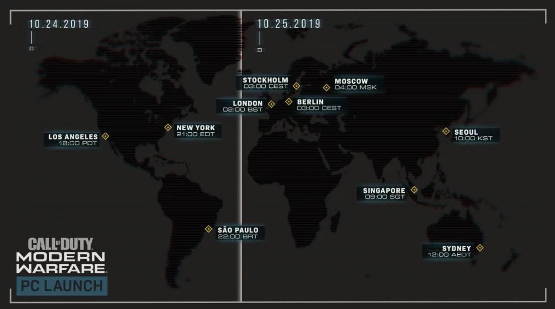 Call of Duty Modern Warfare orario sblocco PC