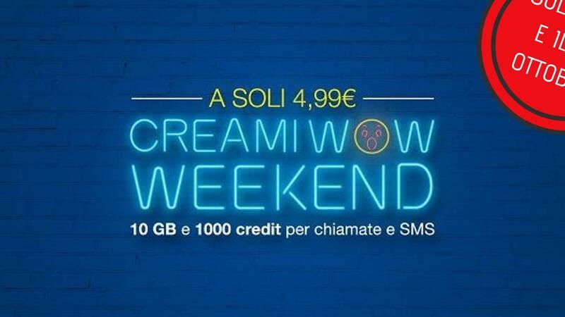 Ritorna Creami WOW: minuti illimitati, SMS illimitati e 10GB a 4,99€ al mese