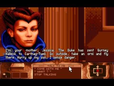 Il volto di Jessica (Francesca Annis) nel gioco Dune, prodotto da Cryo Interactive