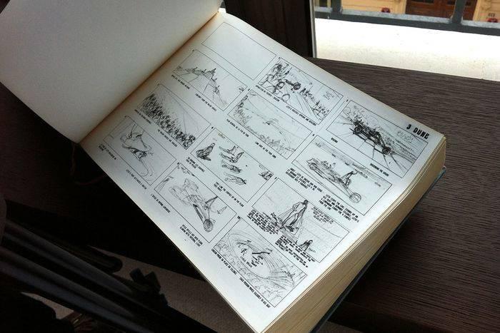 Lo storyboard del Dune di Alejandro Jodorowsky
