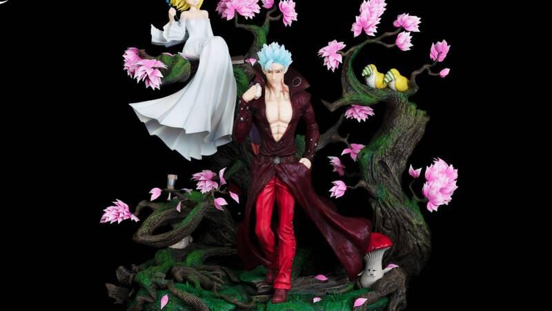 "Ban and Elaine, Kitsune presenta una statua da ""The Seven Deadly Sins"""