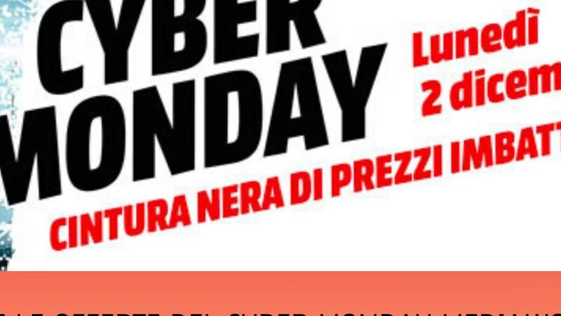 Tutte le offerte del Cyber Monday di MediaWorld