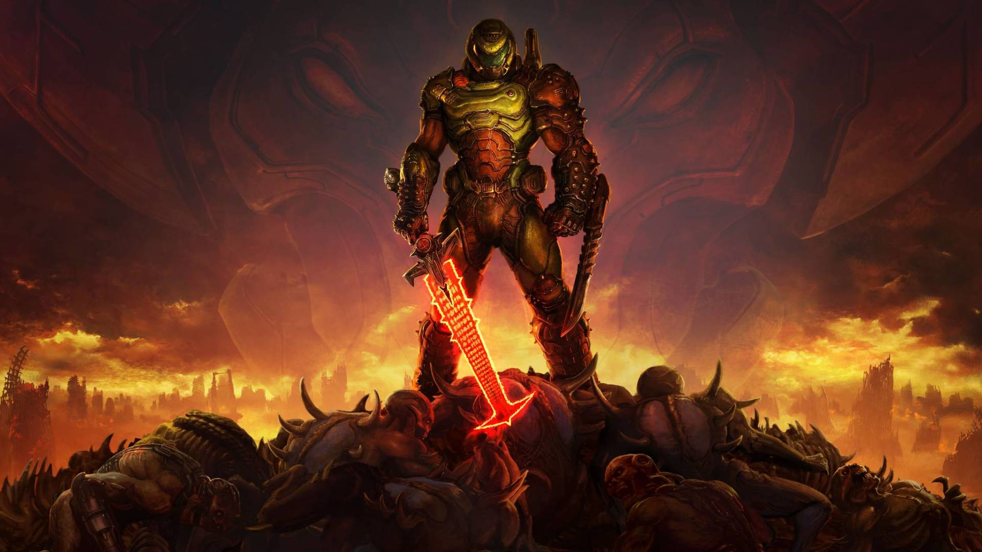 DOOM Eternal sfondo artwork cover