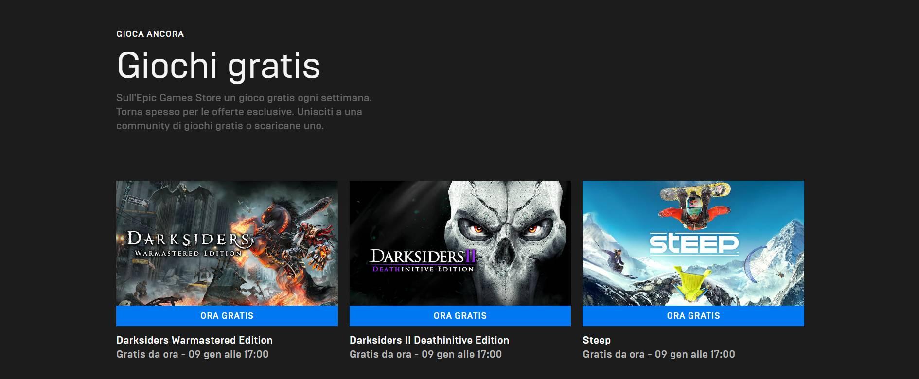 Epic Games Store giochi gratis gennaio 2020