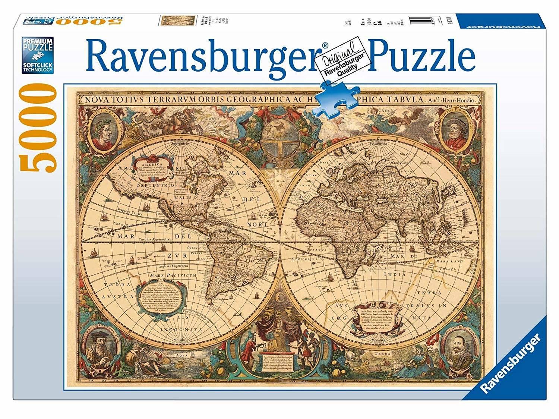 Ravensburger Italy- Mappamondo Antico, 17411