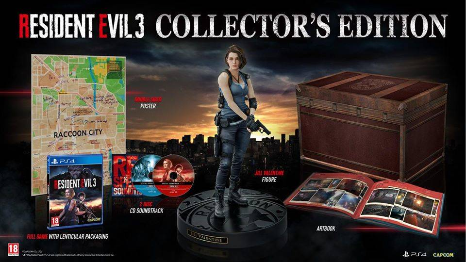 Resident Evil 3 Remake collector's edition europea