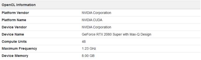 RTX 2080 Super Max-Q