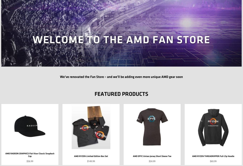 AMD Fanshop homepage