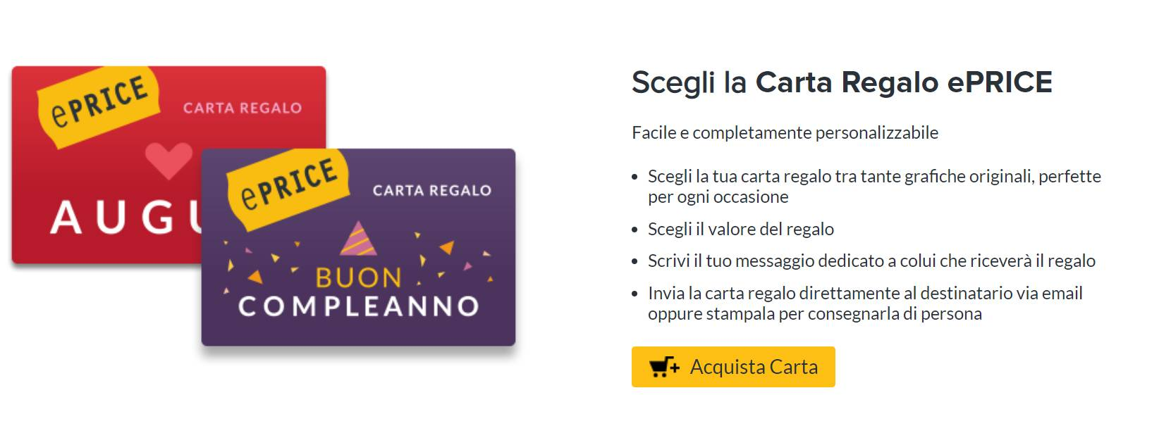 carte regalo ePrice