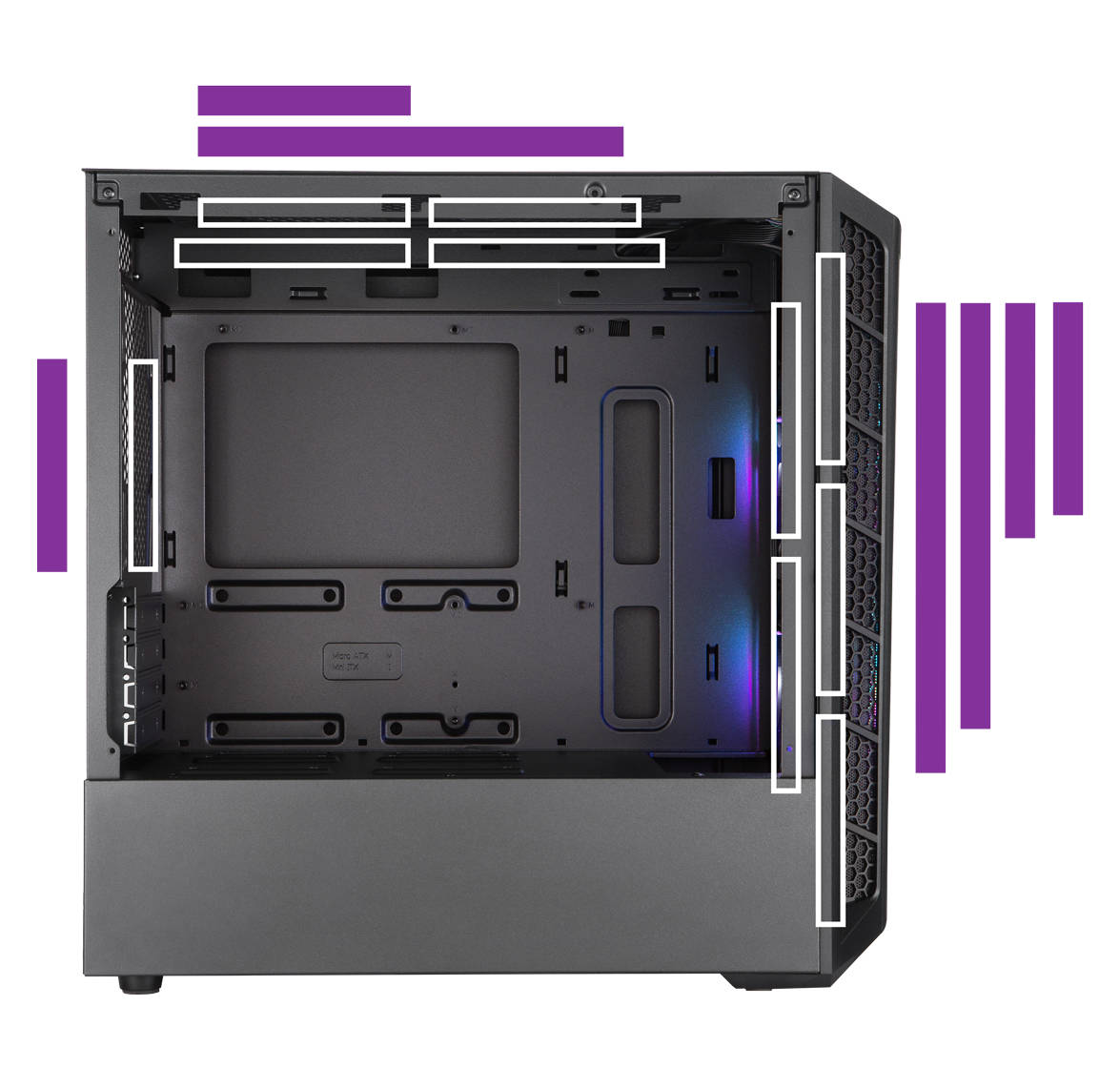 MasterBox MB3xxL cooling options