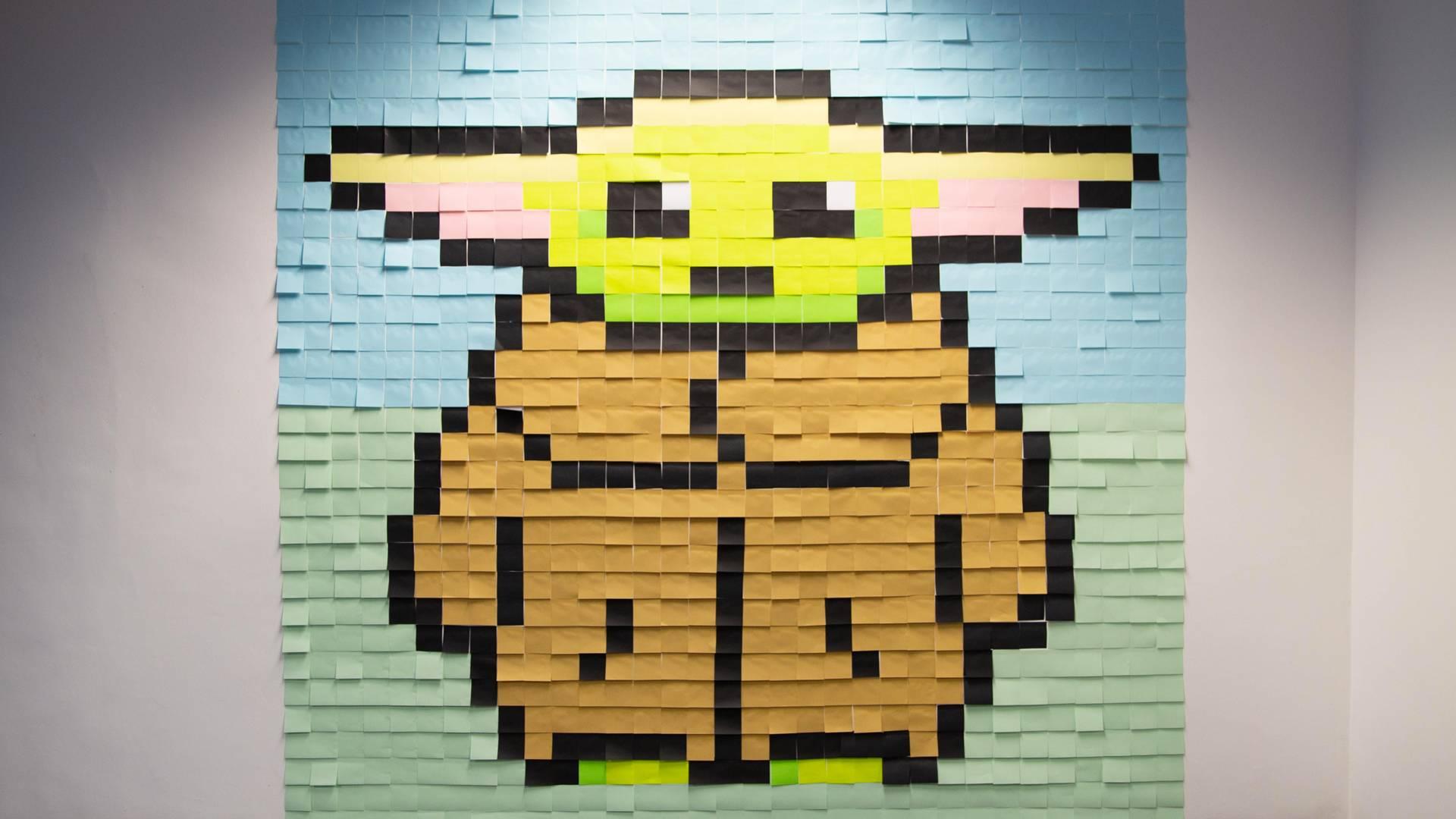 murale di Baby Yoda