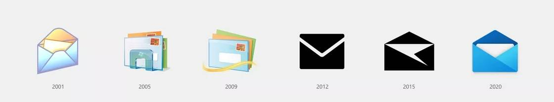 Icona mail per Windows 10