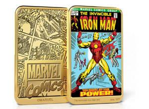 marvel lingotto oro iron man