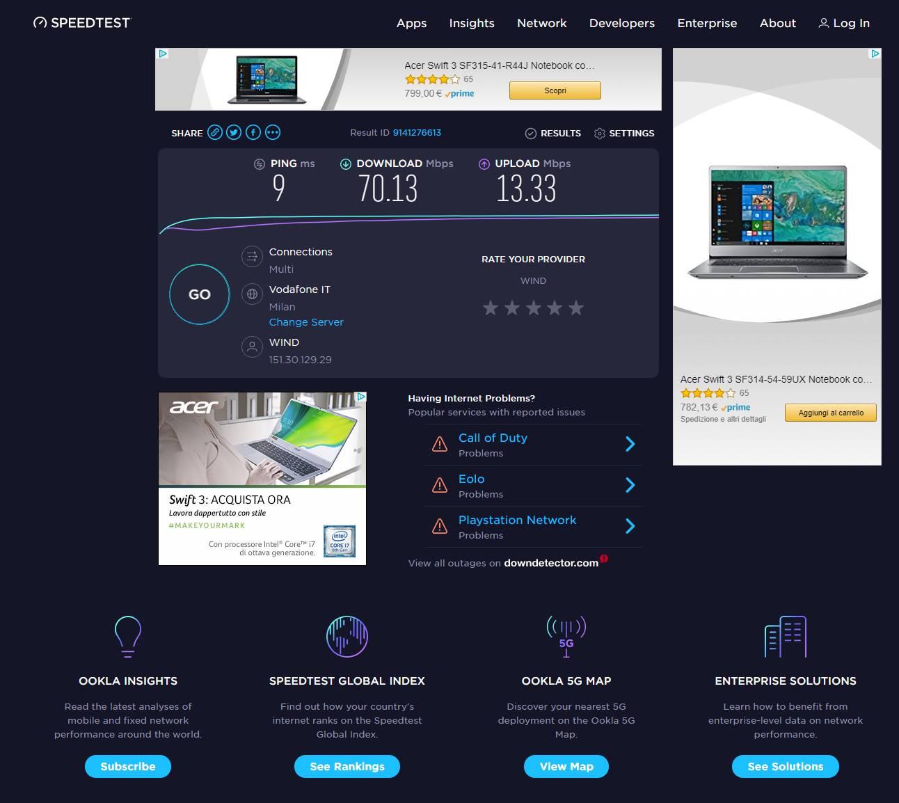 TP-Link Archer VR1210v - prestazioni Wi-Fi FTTC 100MB