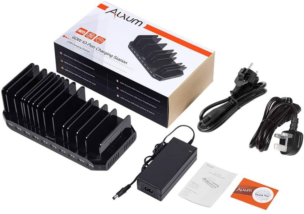 Alxum 60W Caricabatterie multiplo