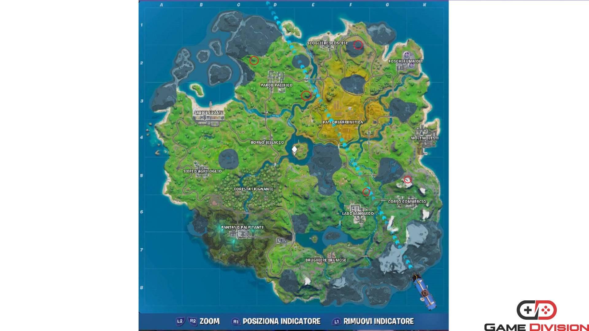 Fortnite Spada di Skye guida mappa