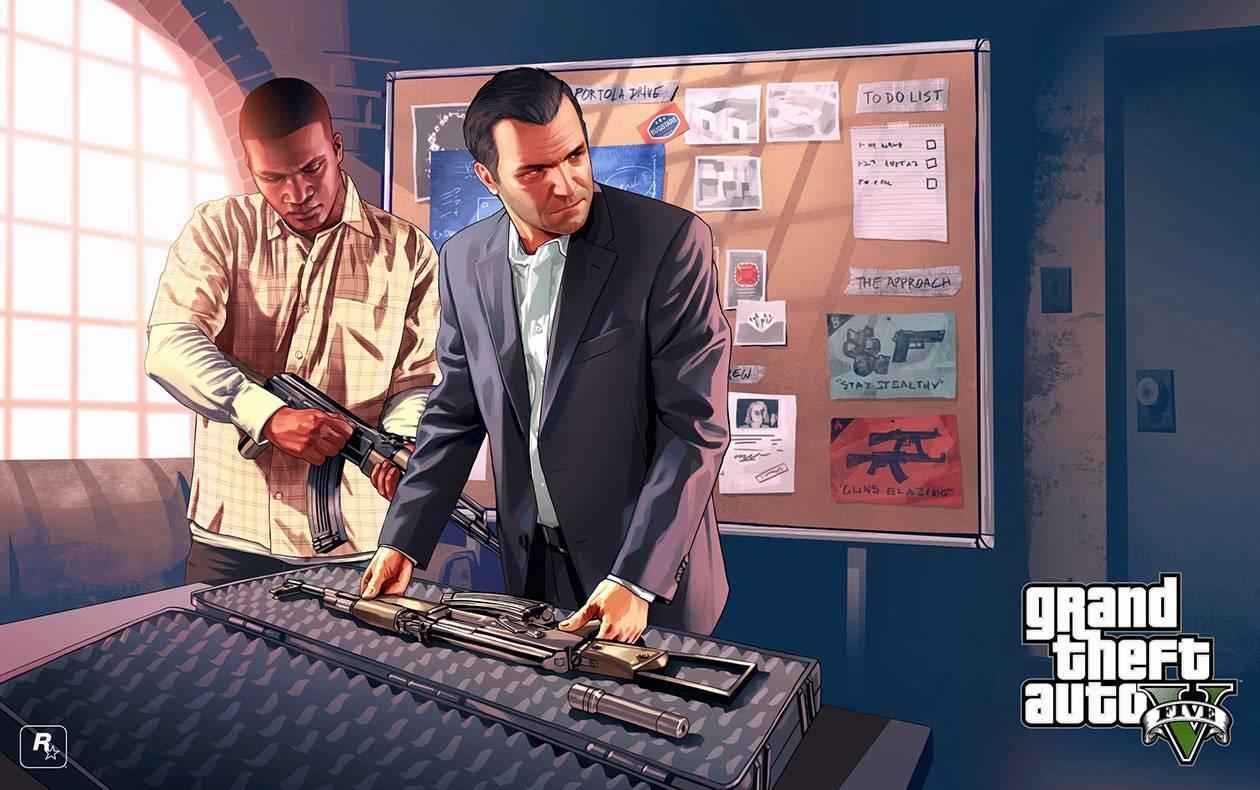 GTA 5 Grand Theft Auto 5 Franklin Michael