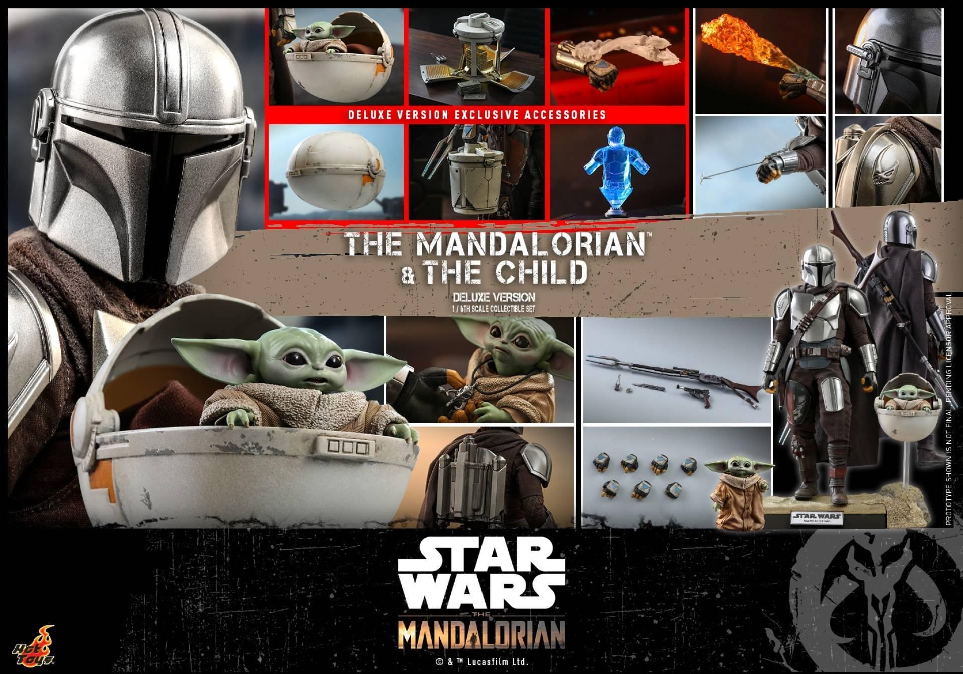 hot toys, le figure tratte da the mandalorian