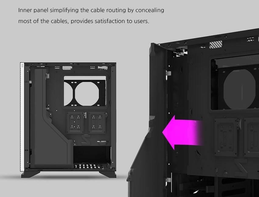 Zalman S5 cable enclosure
