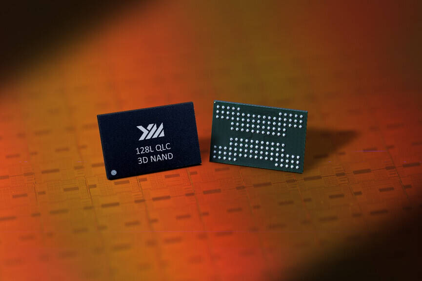 YTMC 128 layer 3D-NAND chips
