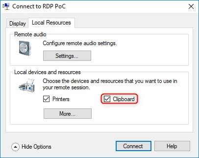 RDP Reverse Hyper-V clipboard