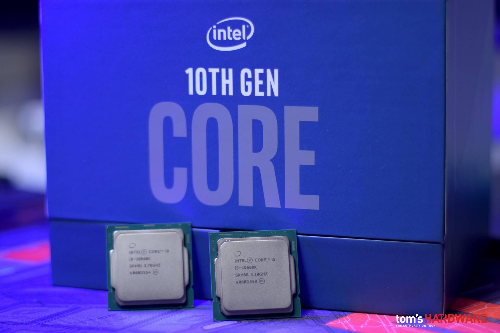 Intel Core i9-10900K e Intel Core i5-10600K