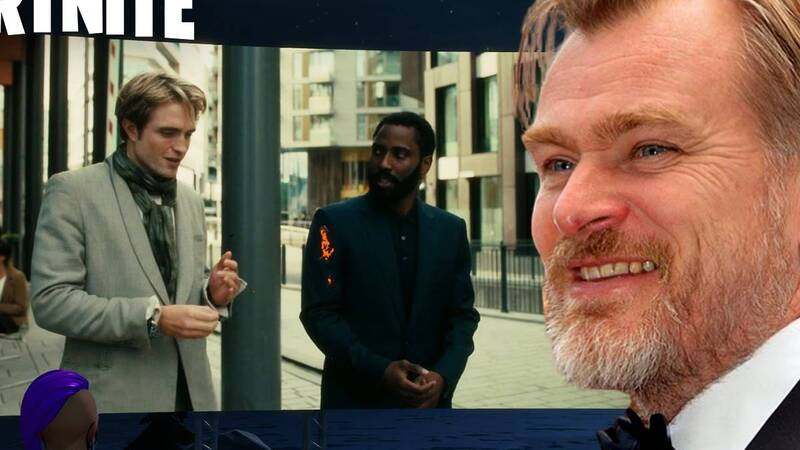 Tenet: l'idea del trailer su Fortnite è stata di Christopher Nolan