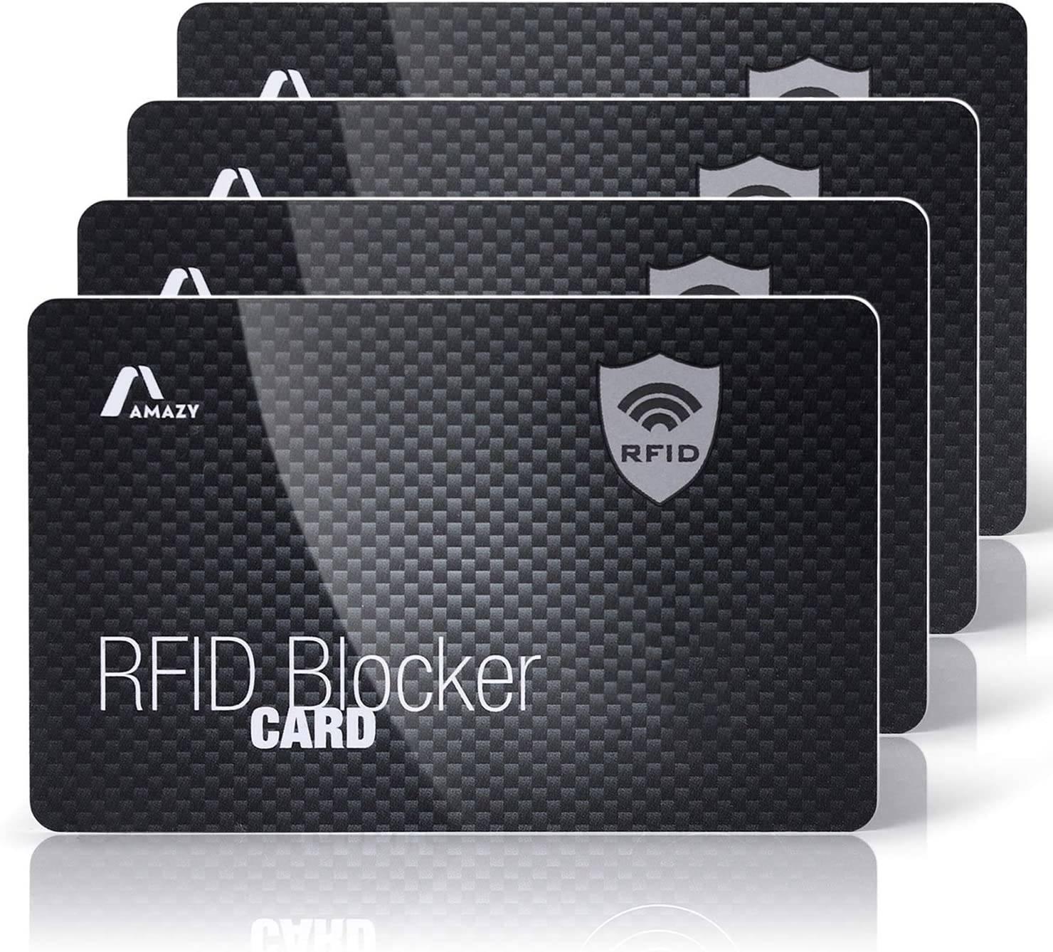 Amazy blocco carta RFID in carbonio