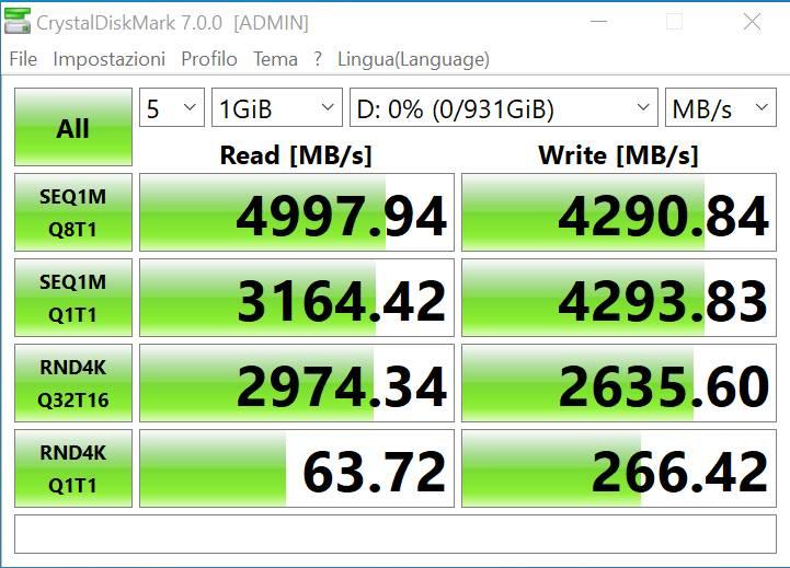 CrystalDiskMark - PCIe 4.0