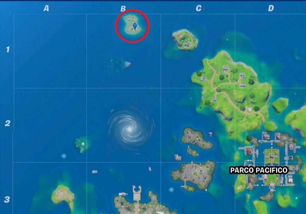 Fortnite Sfida segreta mini.mappa