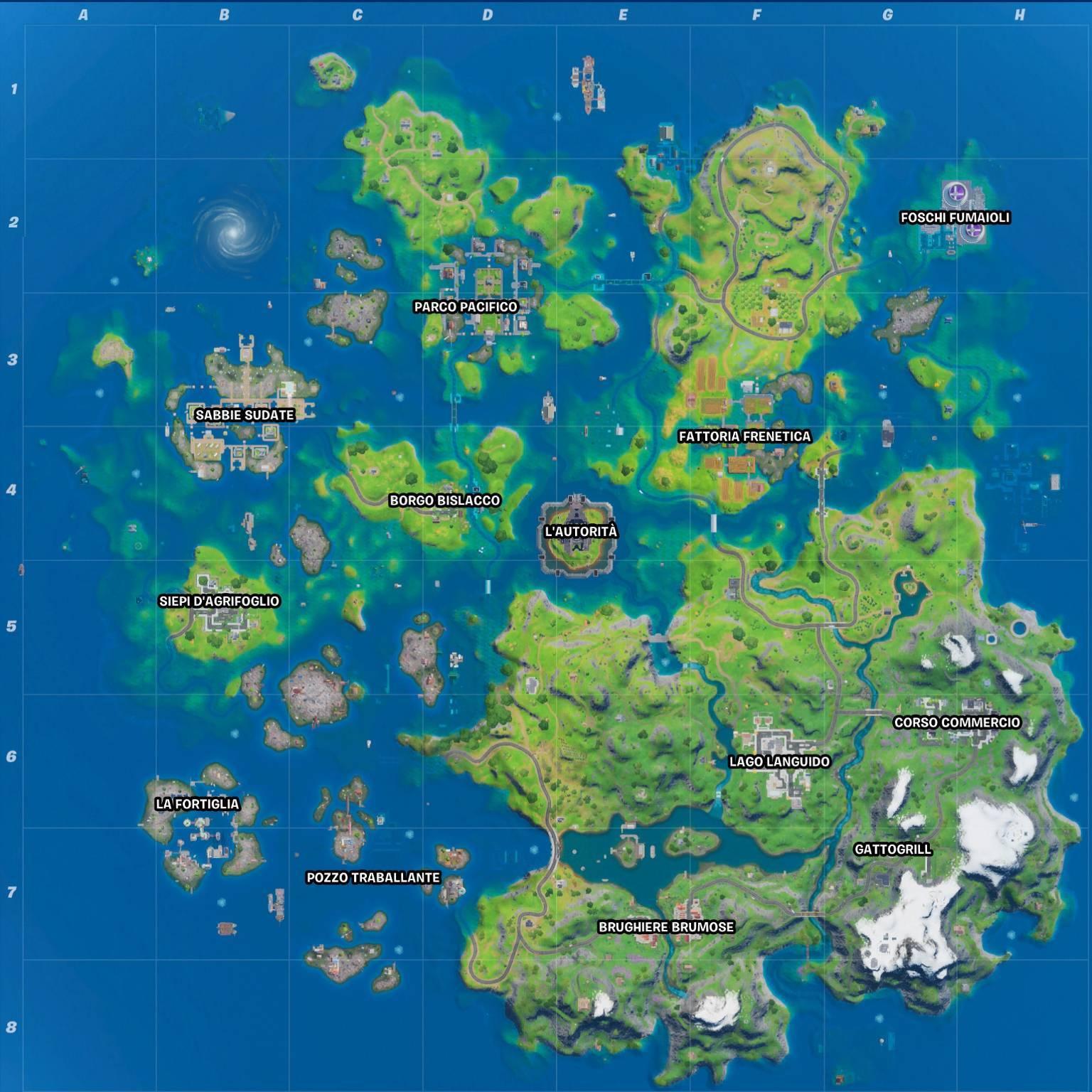 Fortnite Stagione 3 mappa ita