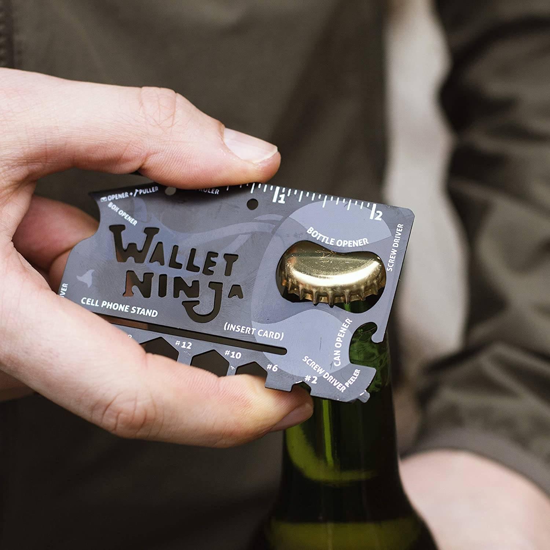 Wallet ninja carta in acciaio multiuso
