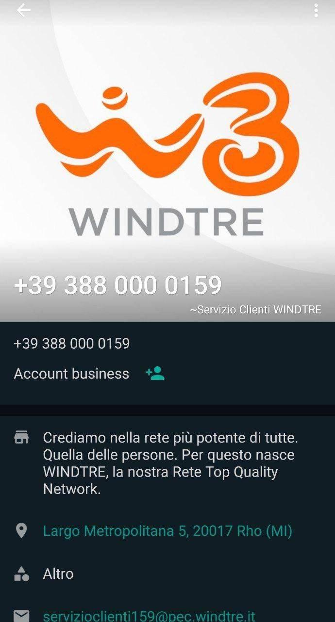 WindTre su WhatsApp