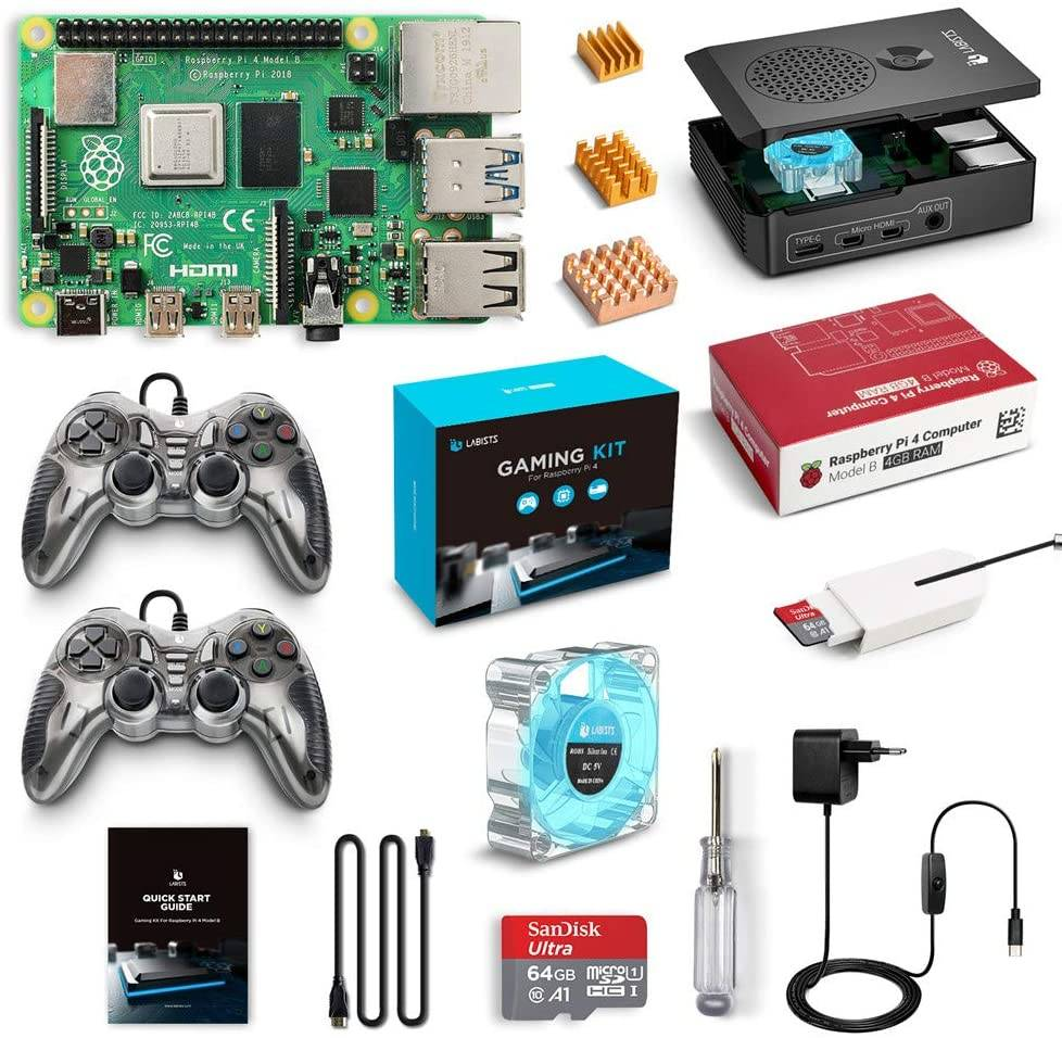LABISTS gaming kit Raspberry Pi 4