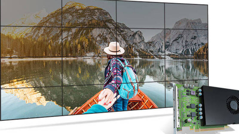 Matrox D1450, the ideal card to manage up to 16 monitors in 4K simultaneously