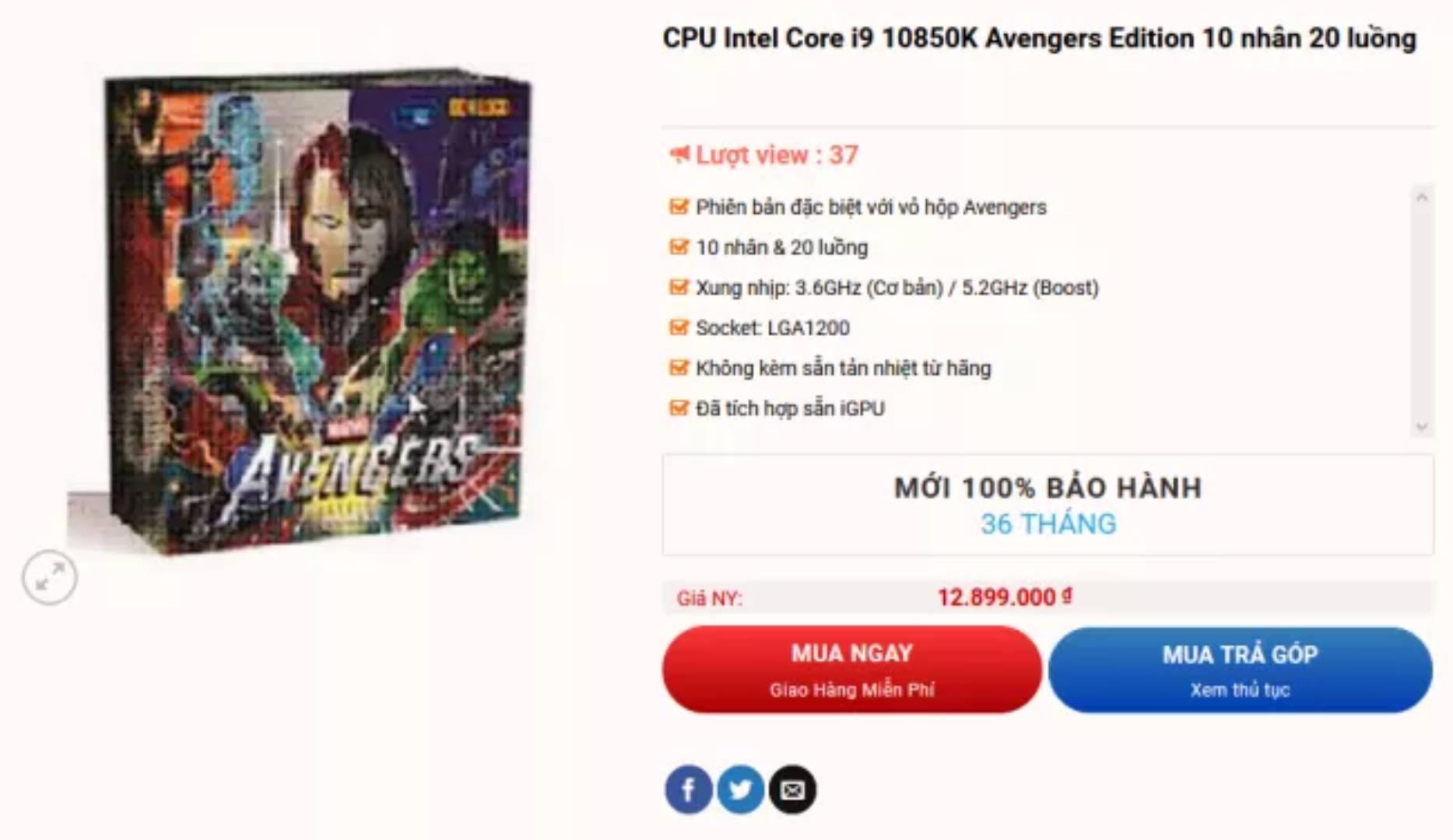 Intel KA Avengers