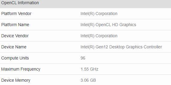 Intel Tiger Lake Iris Xe Benchmark