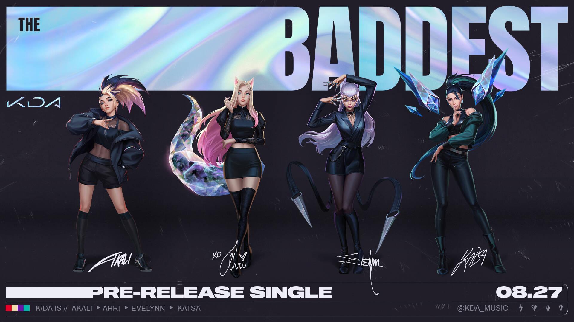 League of Legends LoL K/DA The Baddest cover