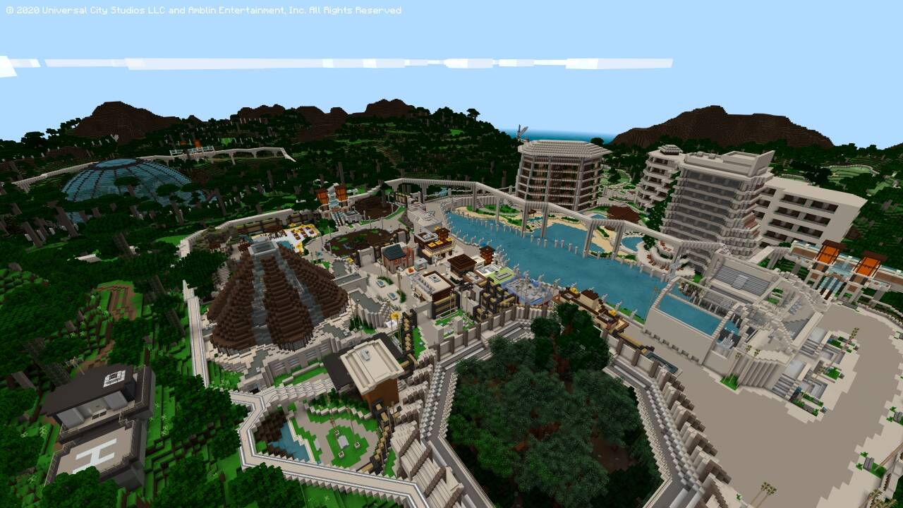 Minecraft dinosauri dlc jurassic world